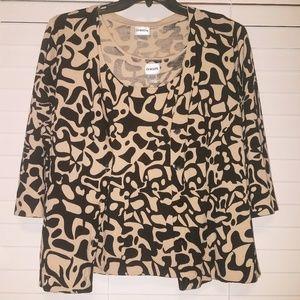 Chico's Black/Camel Sweater Set